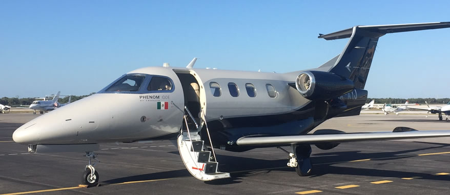 Executive Jet Phenom 100 E by Embraer, Cancun Mexico