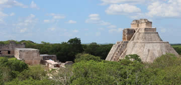 Merida & Uxmal Ruins Tour by Airplane